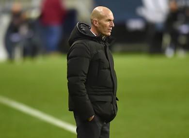 Zidane: positive for coronavirus.