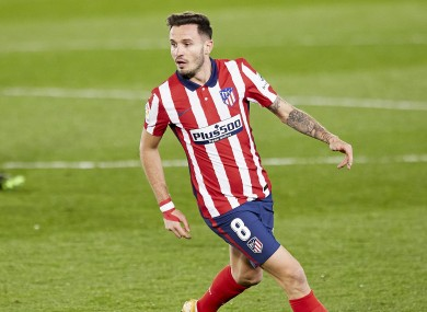 Saul Niguez (file pic) was one of several frontline players in the Atletico Madrid side beaten by Cornella.