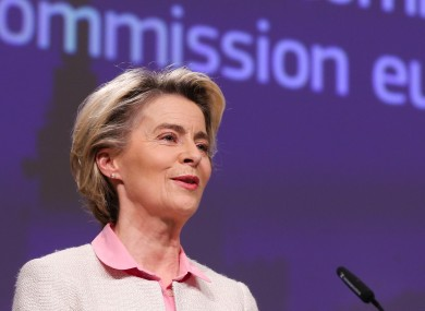 Ursula von der Leyen made the announcement today.