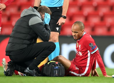 Fabinho will miss two games.