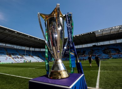 The Champions Cup trophy.