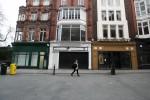 Closed shops on Grafton Street, Dublin, today.