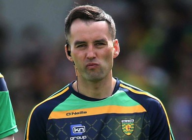 Karl Lacey was a selector for the Donegal senior football team under Declan Bonner for the past three seasons.