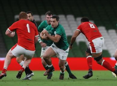 Lowe helped Ireland beat Wales in November.