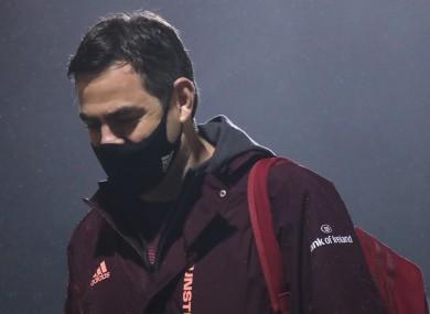 Munster boss Johann van Graan arrives at the Sportsground.