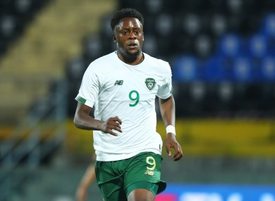 Jonathan Afolabi pictured during the Republic of Ireland U21 side's fixture against Italy in October.