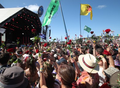 The crowd at the 2019 Glastonbury Festival