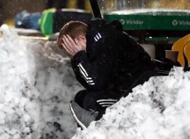 Snow joke: Lennon's side dropped more points.