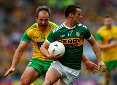 Enright in action against Donegal during the 2019 Super 8s.