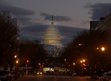 Entrances to the US Capital blocked by military vehicles