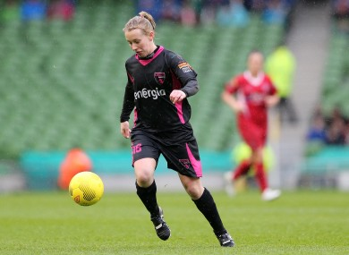Nicola Sinnott pictured playing in the FAI Cup final in 2015.