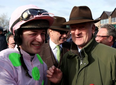 David Mullins (left) with Willie Mullins in 2018.