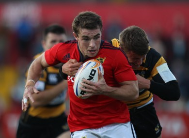 Scanlon in action for Munster against Wasps in a pre-season game in 2011.