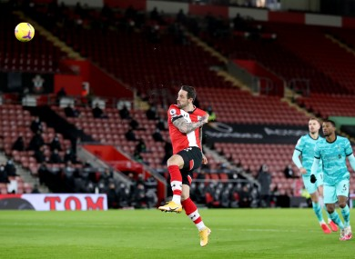 Danny Ings tested positive for the virus after scoring Southampton's winner against Liverpool.