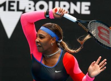Up and running: Serena Williams.
