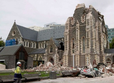 The aftermath of the earthquake in Christchurch in 2011