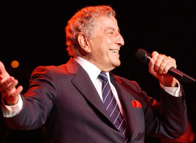 File image of Tony Bennett performing in California.