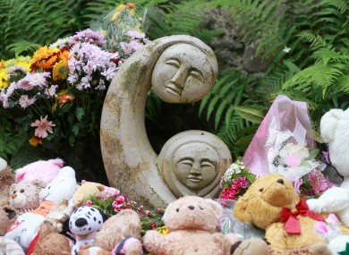 Toys and flowers pictured at the 'Little Angels' memorial plot in the grounds of Bessborough House in Blackrock, Cork, in 2014.
