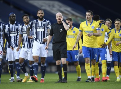 Referee Lee Mason was at the centre of the controversy in this afternoon's game.