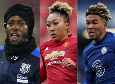 West Brom's Romaine Sawyers, Man United's Lauren James, Chelsea's Reece James and Man United's Axel Tuanzebe are among many players who have been subject to horrific racist abuse in recent weeks.