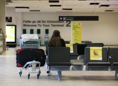 A passenger in Dublin Airport.