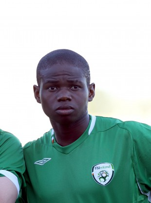 Emeka Onwubiko pictured playing for Ireland at underage level.