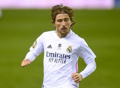 Luka Modric (file pic).