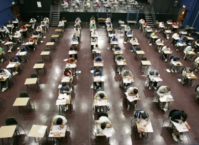 File image of a Leaving Cert exam.