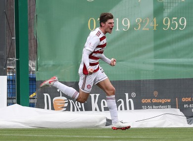 Ross Callachan celebrates after his goal.