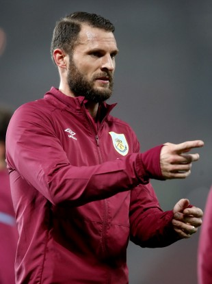 Erik Pieters was named in the Clarets' starting line-up.