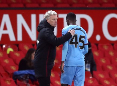 David Moyes opted to substitute Mipo Odubeko in the 112th minute of West Ham's defeat last night.