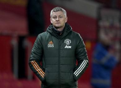 Manchester United manager Ole Gunnar Solskjaer (file pic).