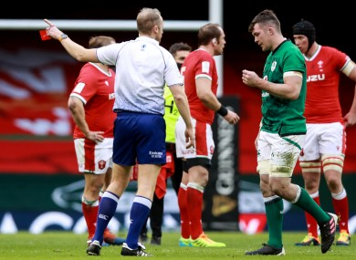 O'Mahony was sent off in the 14th minute.