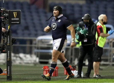 Fagerson gets sent off against Wales.