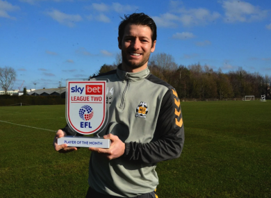 Hoolahan: League Two's top performer in January.