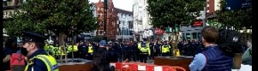 Clashes in Dublin city centre as gardaí stop protest over lockdown restrictions