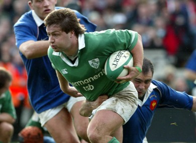 Shane Byrne on the charge against France.