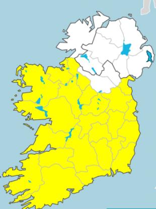 Status Yellow weather warnings Thursday.