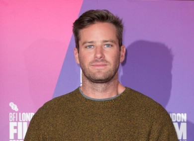 File photo. Armie Hammer.