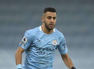 File photo. Man City footballer Riyad Mahrez