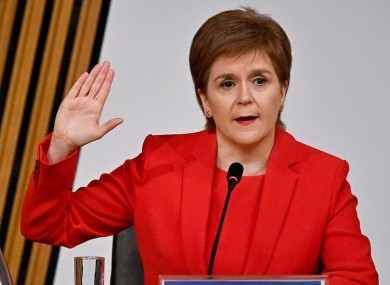 Nicola Sturgeon gave evidence on the matter at a committee today.