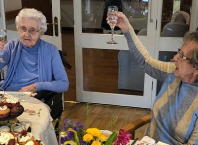 Susan Tutty (left) and Betty O Shea, residents at Craddock Nursing Home in Naas