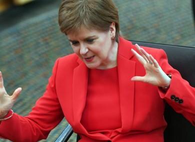 File photo. Nicola Sturgeon.