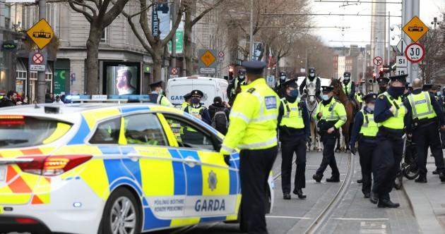 Arrests amid major Garda presence as anti-lockdown events take place in Dublin