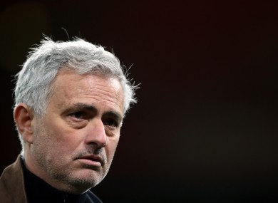 Tottenham Hotspur manager Jose Mourinho interviewed by the media after the final whistle.