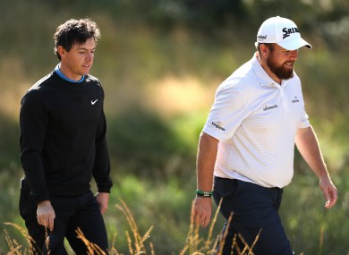 Rory McIlroy and Shane Lowry (file pic)