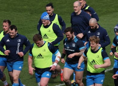 The Leinster squad during Friday's captain's run.