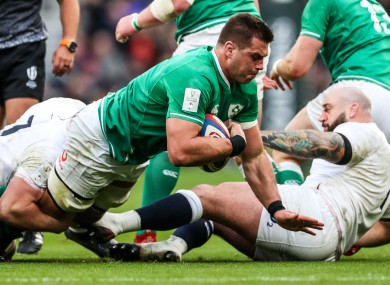 Stander in action against England last year.