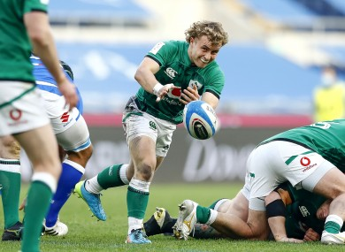 Craig Casey returns to Munster this week after making his Ireland debut.