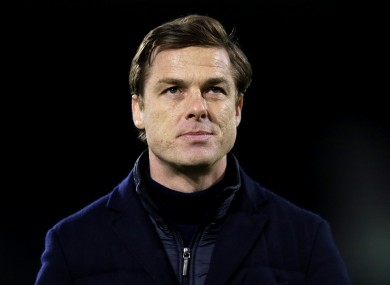 Fulham manager Scott Parker pictured tonight.